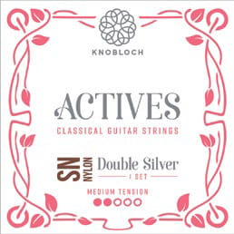 Knobloch Actives 300ADN Nylon Double Silver Medium Tension